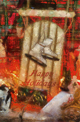 Xmas Sled Happy Holidays 02 Photo Art Poster by Thomas Woolworth