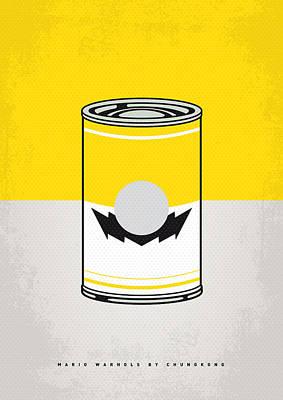 Y Mario Warhols Minimal Can Poster-wario Poster by Chungkong Art