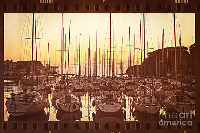 Yacht Harbor In The Late Afternoon Poster