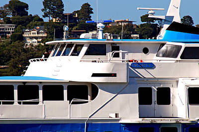 Yacht On Ocean Sausalito California Poster