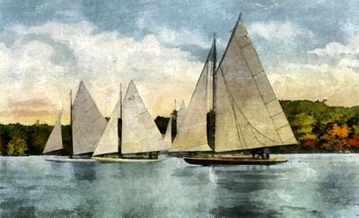 Yachting In Saugatuck Poster by Michelle Calkins