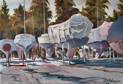 Yachts Winterizing Poster by David Gilmore