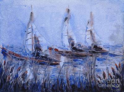 Yachts Poster by Zaira Dzhaubaeva