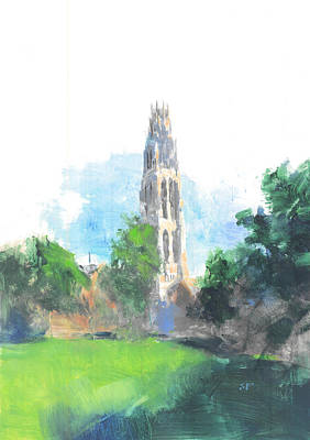 Yale Harkness Tower Poster by Stan Fellows