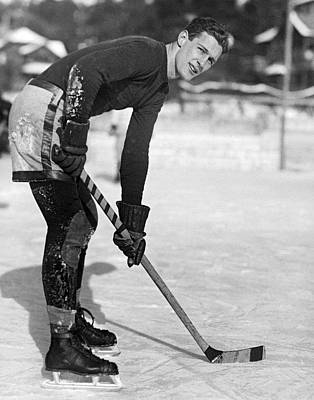 Yale Hockey Player Poster by Underwood Archives
