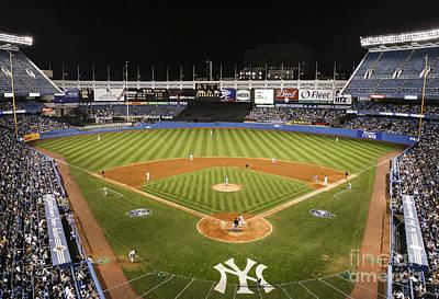 Yankee Stadium Poster by Chuck Spang