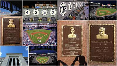 Yankee Stadium Collage 2 Poster by Allen Beatty