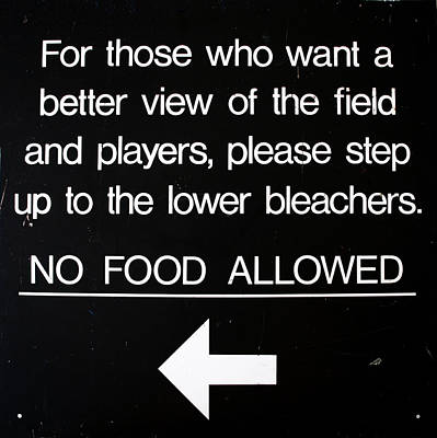 Yankee Stadium Lower Bleachers Sign Poster by Bill Cannon