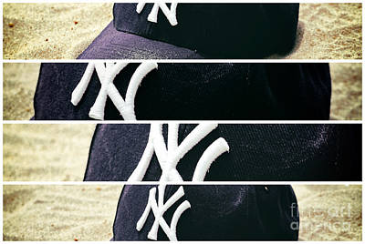Yankees Hat Panel Poster by John Rizzuto