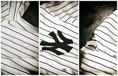 Yankees Panels Poster by John Rizzuto