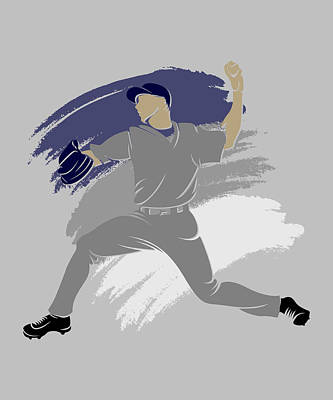 Yankees Shadow Player Poster by Joe Hamilton