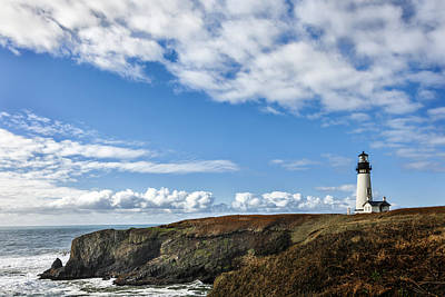 Yaquina Head Lighthouse Poster by Mary Jo Allen