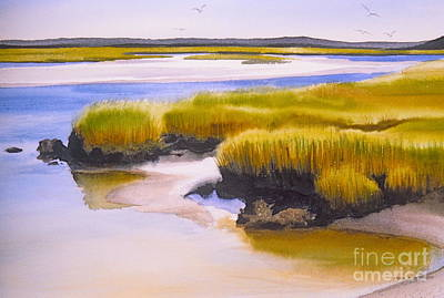 Poster featuring the painting Yarmouthport Marsh by Karol Wyckoff