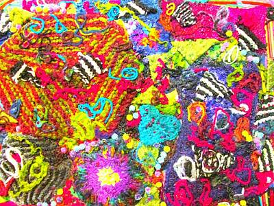 Yarn Stitches Potpourri Collage Poster by Martha Nelson