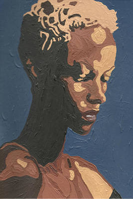 Poster featuring the painting Yasmin Warsame by Rachel Natalie Rawlins