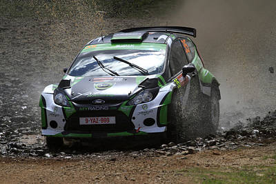 Yazeed Al Rajhi Fia World Rally Championship Australia 2013 Poster by Noel Elliot