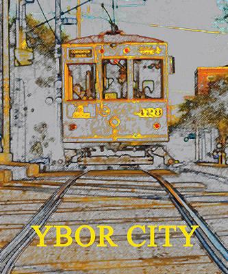Ybor Trolley Poster