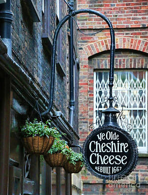 Ye Olde Cheshire Cheese Pub Poster by Jack Schultz
