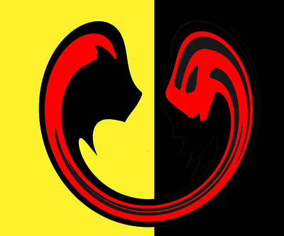 Yellow And Red And Black Poster