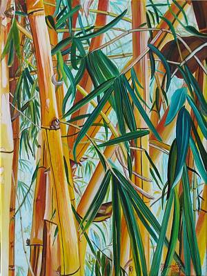 Yellow Bamboo Poster by Marionette Taboniar