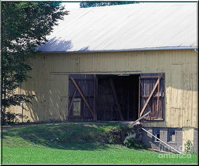 Poster featuring the photograph Yellow Barn by Gena Weiser