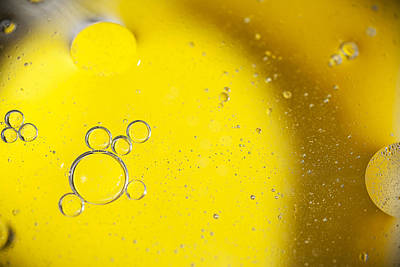 Yellow Bubbles Poster by Samuel Whitton
