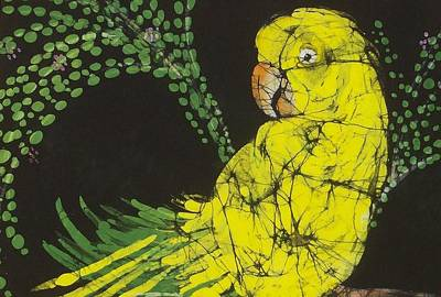 Yellow Budgie Poster