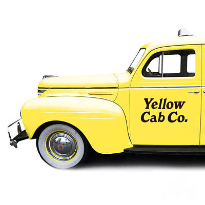 Yellow Cab Square Poster by Edward Fielding