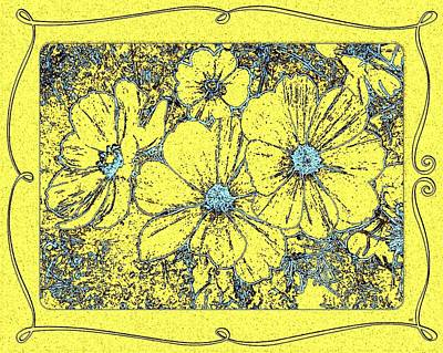 Yellow Cosmos Abstract Poster by Will Borden
