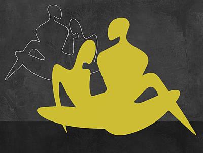Yellow Couple Poster by Naxart Studio