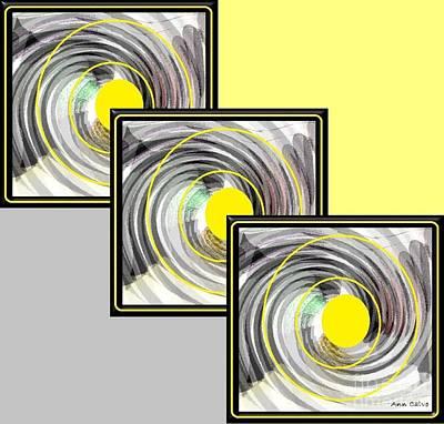 Yellow Dot Poster by Ann Calvo