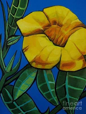 Yellow Elder - Flower Botanical Poster