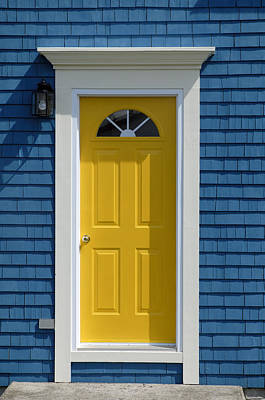 Yellow Front Door Poster by Norman Pogson