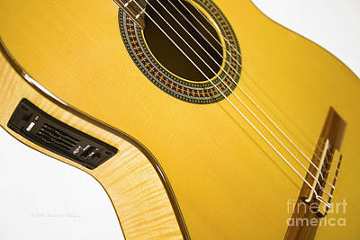 Yellow Guitar Poster