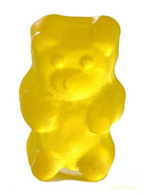 Yellow Gummy Bear Poster by Iris Richardson