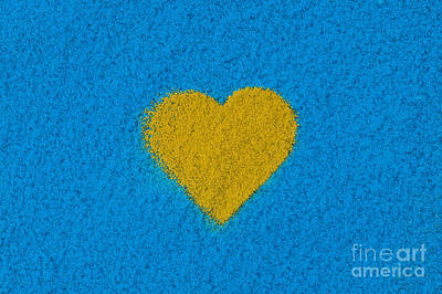 Yellow Heart Poster by Tim Gainey