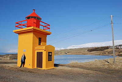 Yellow Lighthouse Poster by Erlendur Gudmundsson