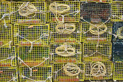 Yellow Lobster Traps Poster by Keith Webber Jr