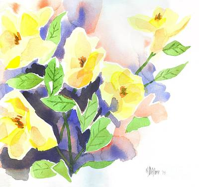 Poster featuring the painting Yellow Magnolias by Kip DeVore