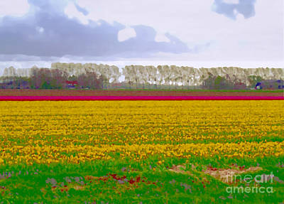 Poster featuring the photograph Yellow Meadow by Luc Van de Steeg