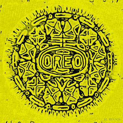 Yellow Oreo Poster by Rob Hans