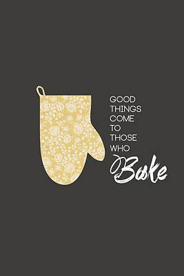 Yellow Oven Mitt Poster by Nancy Ingersoll