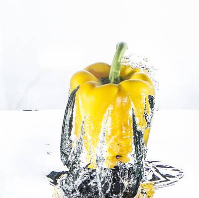 Yellow Pepper Rocket Poster