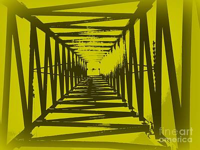 Yellow Perspective Poster by Clare Bevan