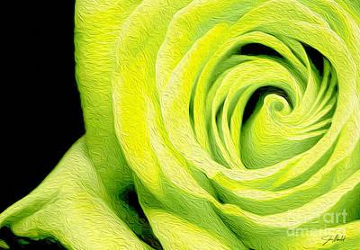 Yellow Rose Poster by Jon Neidert