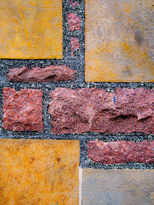Yellow Sandstone And Red Granite Poster by Hakon Soreide