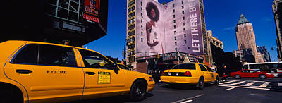 Yellow Taxies At The Road Intersection Poster by Panoramic Images