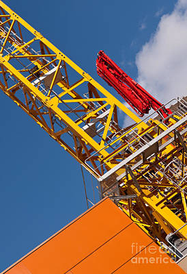 Yellow Tower Crane Poster by Rick Piper Photography