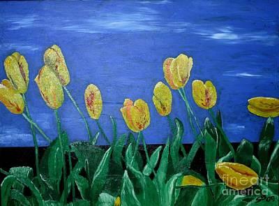 Yellowred Tulips Poster