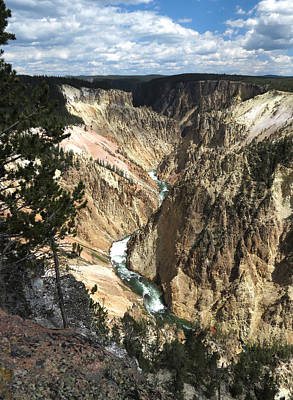 Poster featuring the photograph Yellowstone Canyon by Laurel Powell